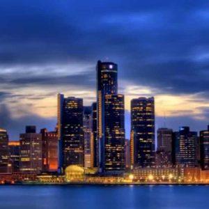 Motoring to Detroit, MI, USA