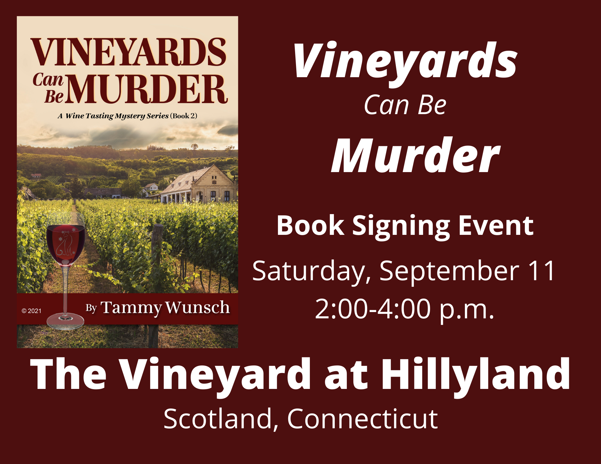 """""""Vineyards Can Be Murder"""" Book Signing Event"""
